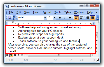 Click  [Microsoft Word Document].